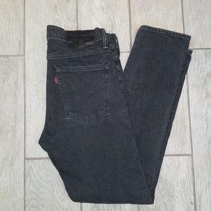 Levi's women's black denim jeans size W29 L30
